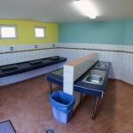 Sanitärgebäude Küche Innen